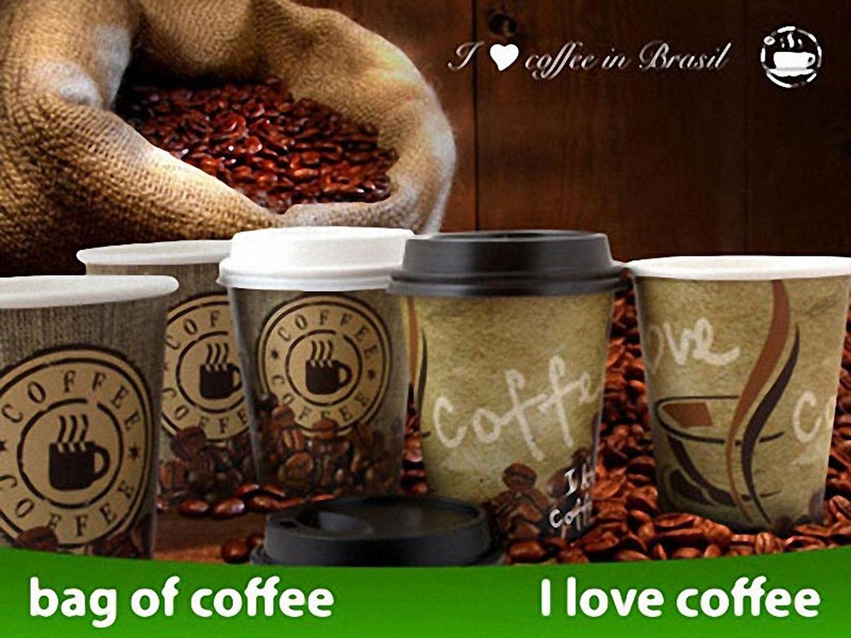 Kaffeebecher CoffeeToGo Pappbecher BAG OF COFFEE  8oz 200 ml, 50 Stk.