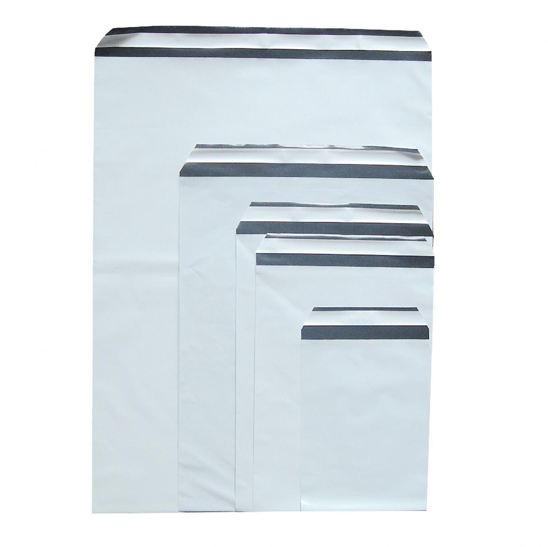 Folienversandtaschen Plastikversandbeutel COEX 250x350+50mm, 70my, B4, 100 Stk.