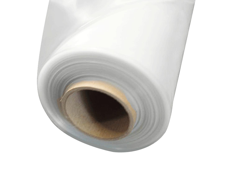 Abdeckfolie Baufolie, transparent / milchig  4000mm x 50m, 150my LDPE