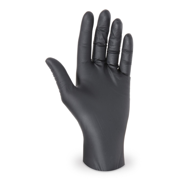 Latex Einweghandschuhe schwarz ungepudert Größe S, 100 Stk.