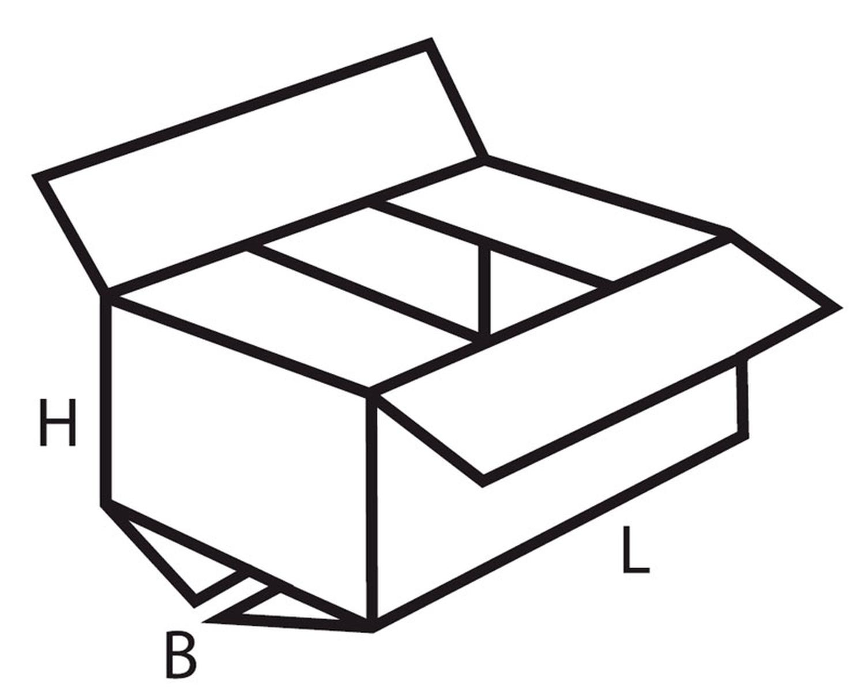 Faltkarton  430x335x270mm, 2wellig, Din A3+ mit seitlichen Tragegriffen