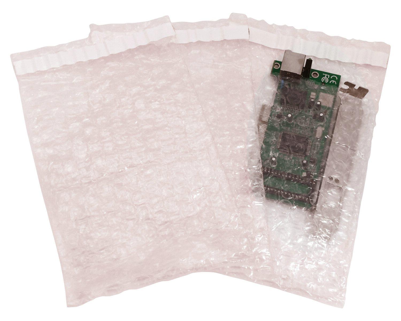 Adhäsionsverschlussbeutel aus Luftpolsterfolie antistatisch 600x400mm, 200 Stk.