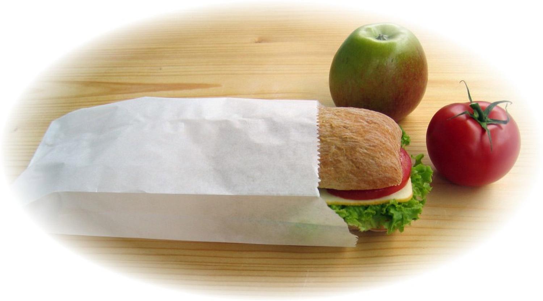 Butterbrotbeutel aus Papier 13+7 x 35 cm  für ca. 2kg Inhalt, 100 Stk.