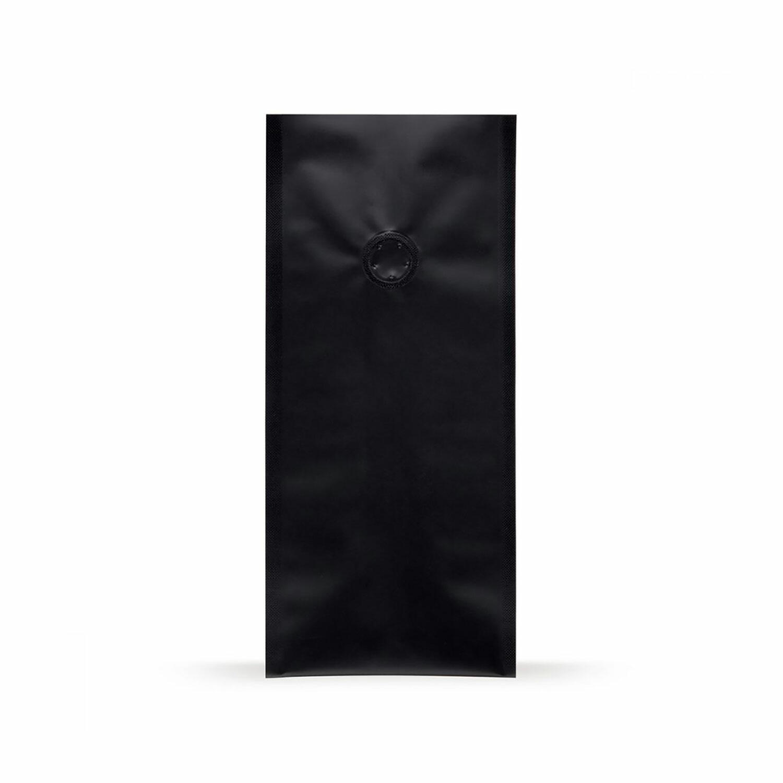 Quad Bags 140x100x375 mm mit Aromaschutzventil, 1000g, schwarz, 500 Stk.