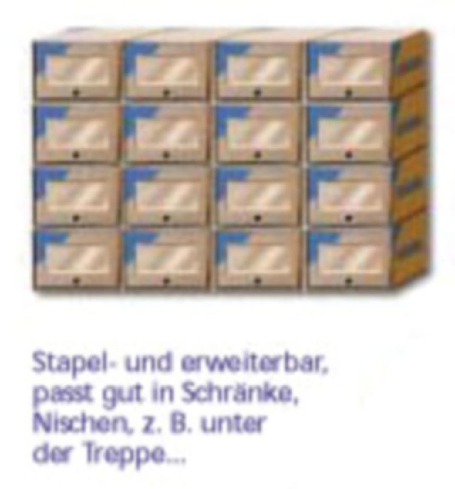 Schubladenbox 360x270x180mm, stapel- und erweiterbar, mit Sichtfenster