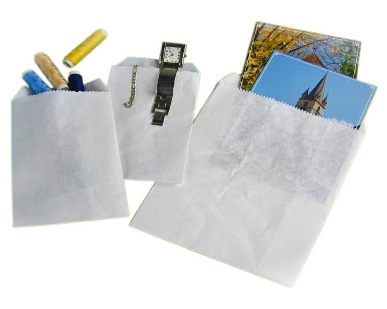 Papierflachbeutel weiß 9 x 14 cm, 4000 Stk.
