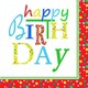 Motivservietten 3-lagig 33x33 cm Geburtstagsservietten Happy Birthday 20 Stk