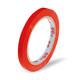 Klebeband Markierungsband Beutelverschluss PVC, 66m x 9mm,  rot