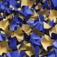DECOFILL dekorative Papier-Verpackungschips Polsterchips, blau, 120 Liter
