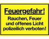 Gebotsschild gelb Feuergefahr - 300x200mm