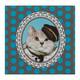 Motivservietten 3-lagig, 33 x 33 cm, Katze, blaue Punkte, 20 Stk.